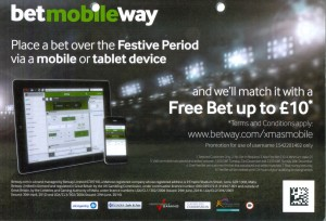 Betway Sports Flyer Back