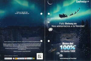 Betway Spanish Region Christmas Flyer Front and Back