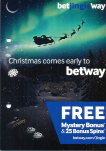 Betway Casino Christmas Flyer Front