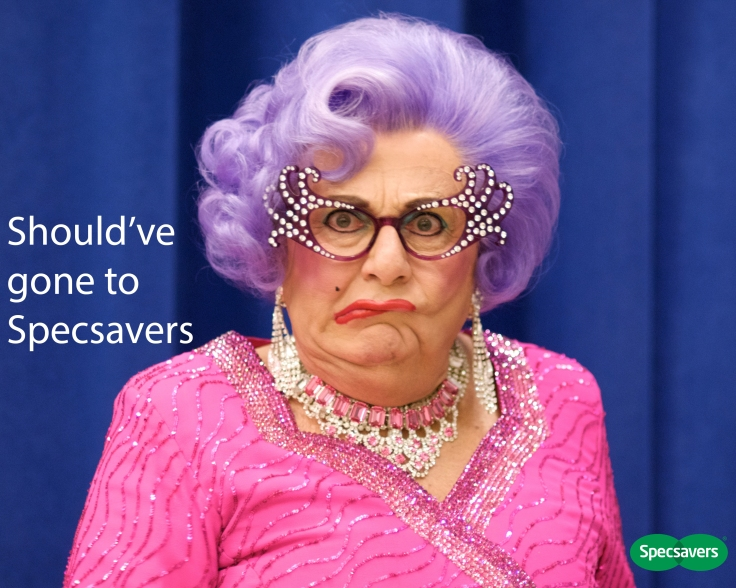 Dame Edna Specsavers