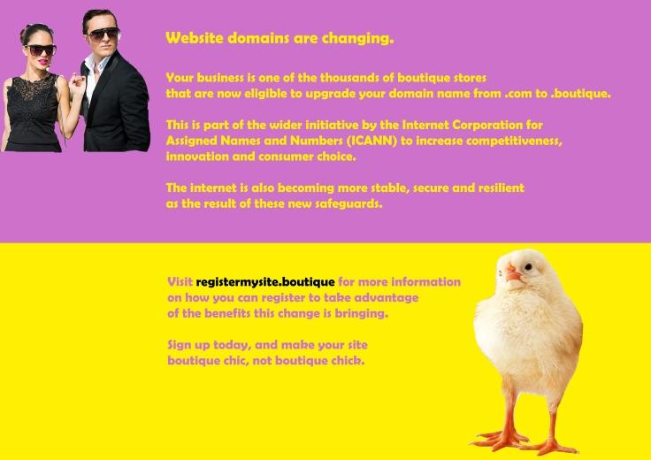 .boutique DM flyer back