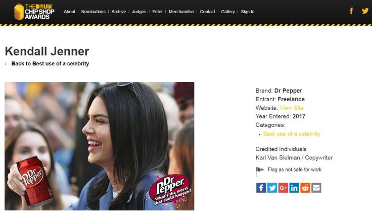Kendall Jenner and Dr Pepper